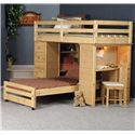 Trendwood Bayview Twin/Twin Loft Bed - Item Number: 4796+97+98+99+90DS+4844+45DS