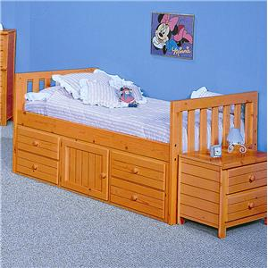 Trendwood Bayview Full Captain's Bed