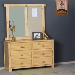 Trendwood Bayview Dresser & Mirror Combo