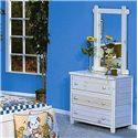 Trendwood Bayview Three Drawer Dresser - Shown with Vertical Mirror