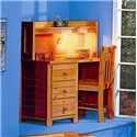 Trendwood Bayview Student Desk - Shown with Hutch and Desk Chair