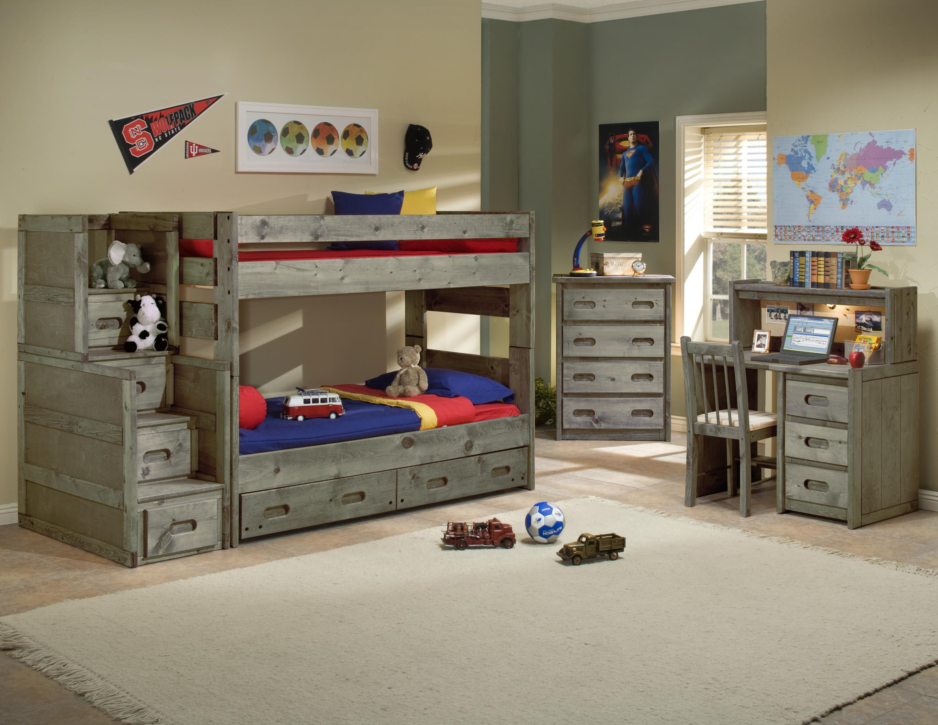 Trendwood Bunkhouse Wrangler Twin Over Twin Bunk Bed