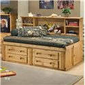 Trendwood Bunkhouse Twin Cheyenne Captain's Bed - Item Number: 4116+17+18+4757+4795TU