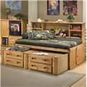 Trendwood Bunkhouse Twin Cheyenne Captain's Bed - Shown with 4123 Trundle