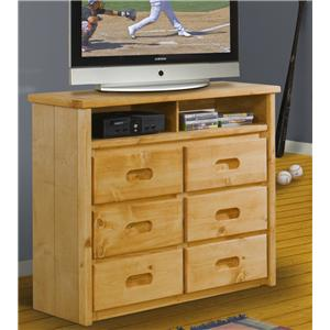 Trendwood Bunkhouse 6-Drawer Media Chest