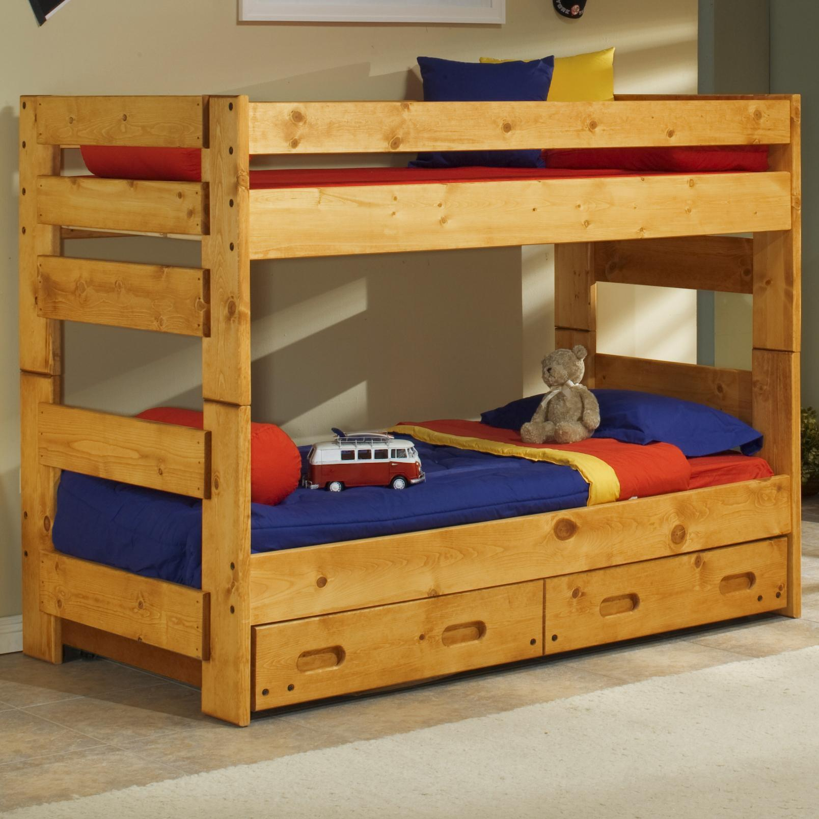 Trendwood Bunkhouse Twin Over Twin Wrangler Bunk Bed With