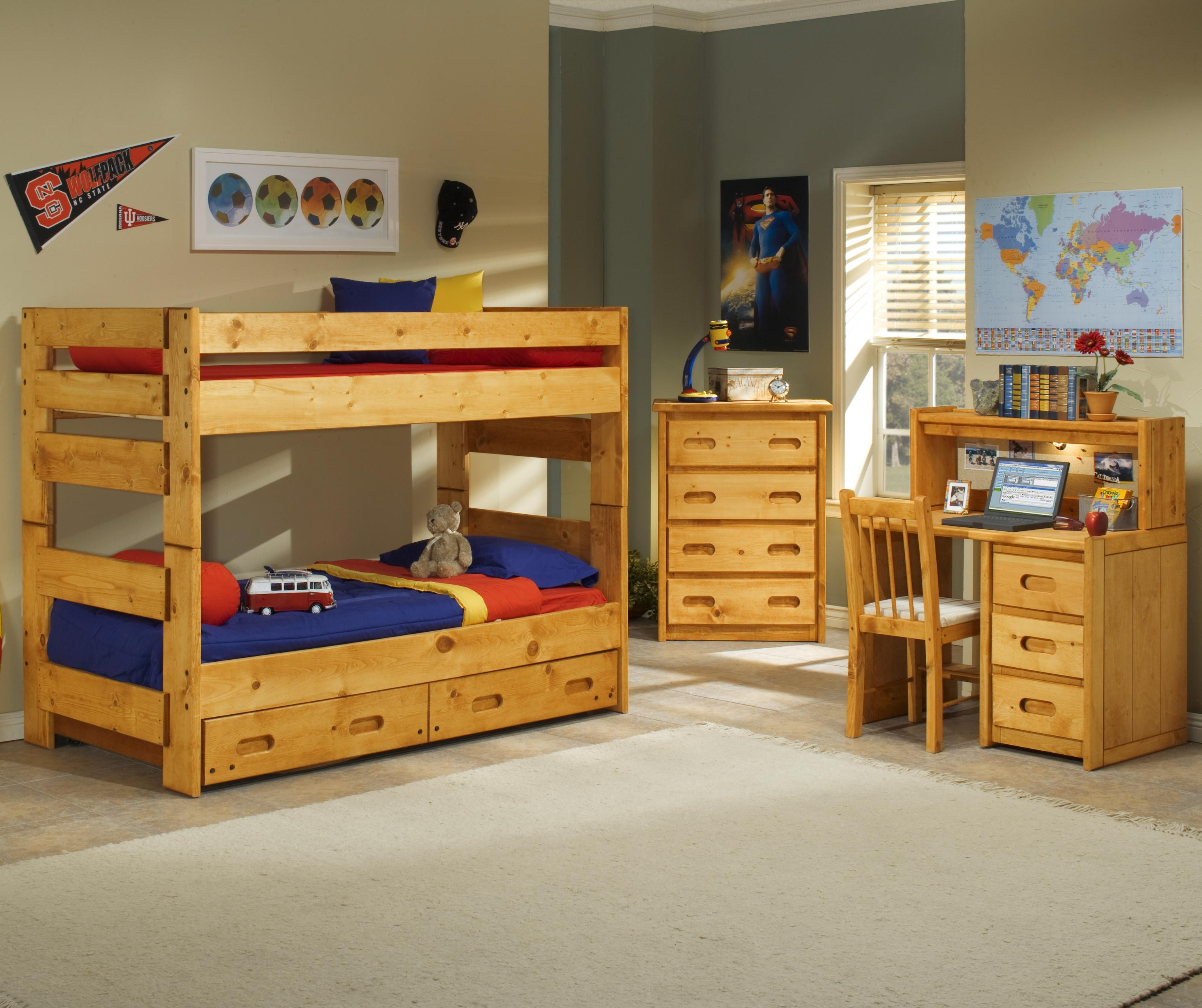 Trendwood Bunkhouse Twin Twin Wrangler Bunk Bed With