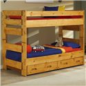 Trendwood Bunkhouse Twin/Twin Wrangler Bunk Bed - Item Number: 4711+10+2x95TU+13