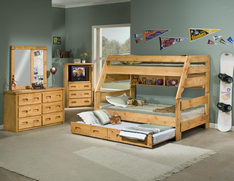 Trendwood Bunkhouse Twin Full High Sierra Bunk Bed