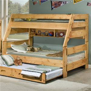 Trendwood Bunkhouse Twin/Full High Sierra Bunk Bed