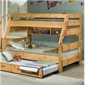 Trendwood Bunkhouse Twin/Full High Sierra Bunk Bed - Item Number: 4721+20+95TU+95FU