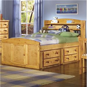 Twin Bookcase Headboard Captain's Bed