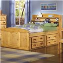 Trendwood Bunkhouse Twin Palomino Captain's Bed  - Bed Shown May Not Represent Size Indicated