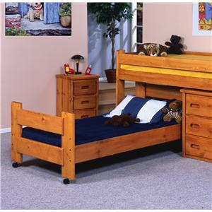 Trendwood Bunkhouse Twin Caster Bed