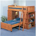 Trendwood Bunkhouse Twin/Twin Roundup Modular Loft Bed - Item Number: 4742+4743+4744+4745+4793+4747+4748