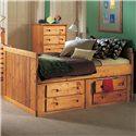 Trendwood Bunkhouse Twin Roper Captain's Bed - Item Number: 4755+4756+5757