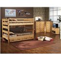 Trendwood Bunkhouse 10 Drawer Mule Chest - Shown with Big Sky Full/Full Bunk with Trundle, 5 Drawer Chest, and Entertainment Cart