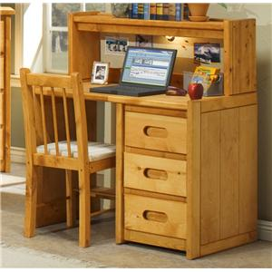 Trendwood Bunkhouse Student Desk with Corral Hutch