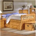 Trendwood Bunkhouse Twin Bayview Captain's Bed  - Item Number: 4813+4814+4757+4795