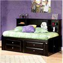 Trendwood Laguna  Twin Roomsaver Bed with Four Drawer Underdresser - Bed Shown May Not Represent Size Indicated