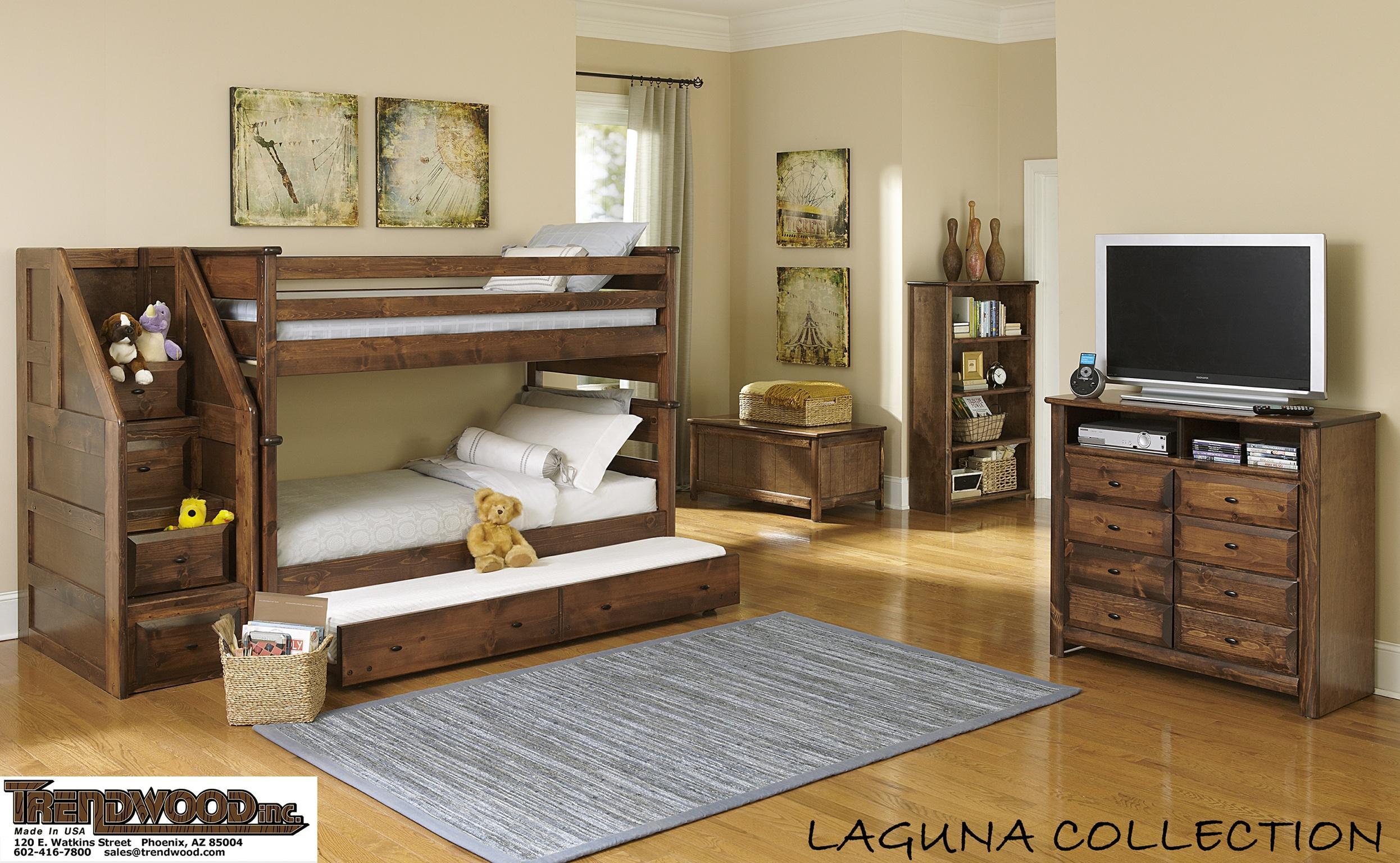 Trendwood Laguna Twin Twin Bunk Bed W Trundle Conlin S