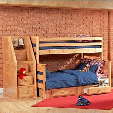 Trendwood Laguna Twin Full Bunk Bed With Underdresser And