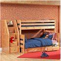 Trendwood Laguna  Twin/Full Bunk Bed with Underdresser  - Item Number: 4522+23+26+46