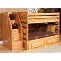 Trendwood Laguna  Full/Full Bunk Bed - Item Number: 4524CA+4525CA+4546CA+4526CA