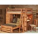 Trendwood Laguna  Loft Bunk Bed - Item Number: 4528CA+29+30+31+32+33+34