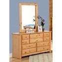 Trendwood Laguna  Dresser and Mirror - Item Number: 4535CA+4536CA