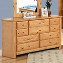 Trendwood Laguna  Nine Drawer Dresser - Item Number: 4535CA