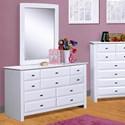 Trendwood Laguna Dresser and Mirror - Item Number: 4535WH+36