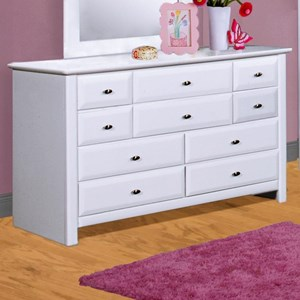 VFM Signature-TW Laguna Nine Drawer Dresser