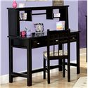 Trendwood Laguna  Student Table Desk with Three Drawers - Shown with Hutch