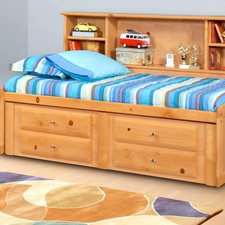 Laguna  4 Drawer Underdresser by Trendwood at HomeWorld Furniture