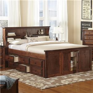Trendwood Laguna Queen Bookcase Bed