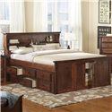 Trendwood Laguna Queen Bookcase Bed - Item Number: 4560+61+62+63