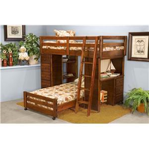 Trendwood Sedona  Twin Bronco Loft Bed
