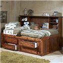 Trendwood Sedona  Twin Cheyenne Bookcase Bed - Item Number: 4457-4117+4458+4431