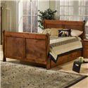 Trendwood Sedona  Twin Sleigh Bed  - Item Number: 4487+4488+4486+4430