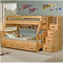 Trendwood Sedona  Twin Bunk Bed - Item Number: 4720+21+62+39+54+95