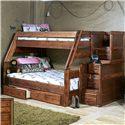Trendwood Sedona  Sedona Bunk with Storage Stairs - Item Number: 4720+4453+4721-CO+4795TU+4795FU