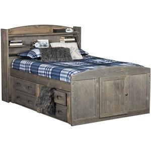 Twin Bookcase Bed with Storage