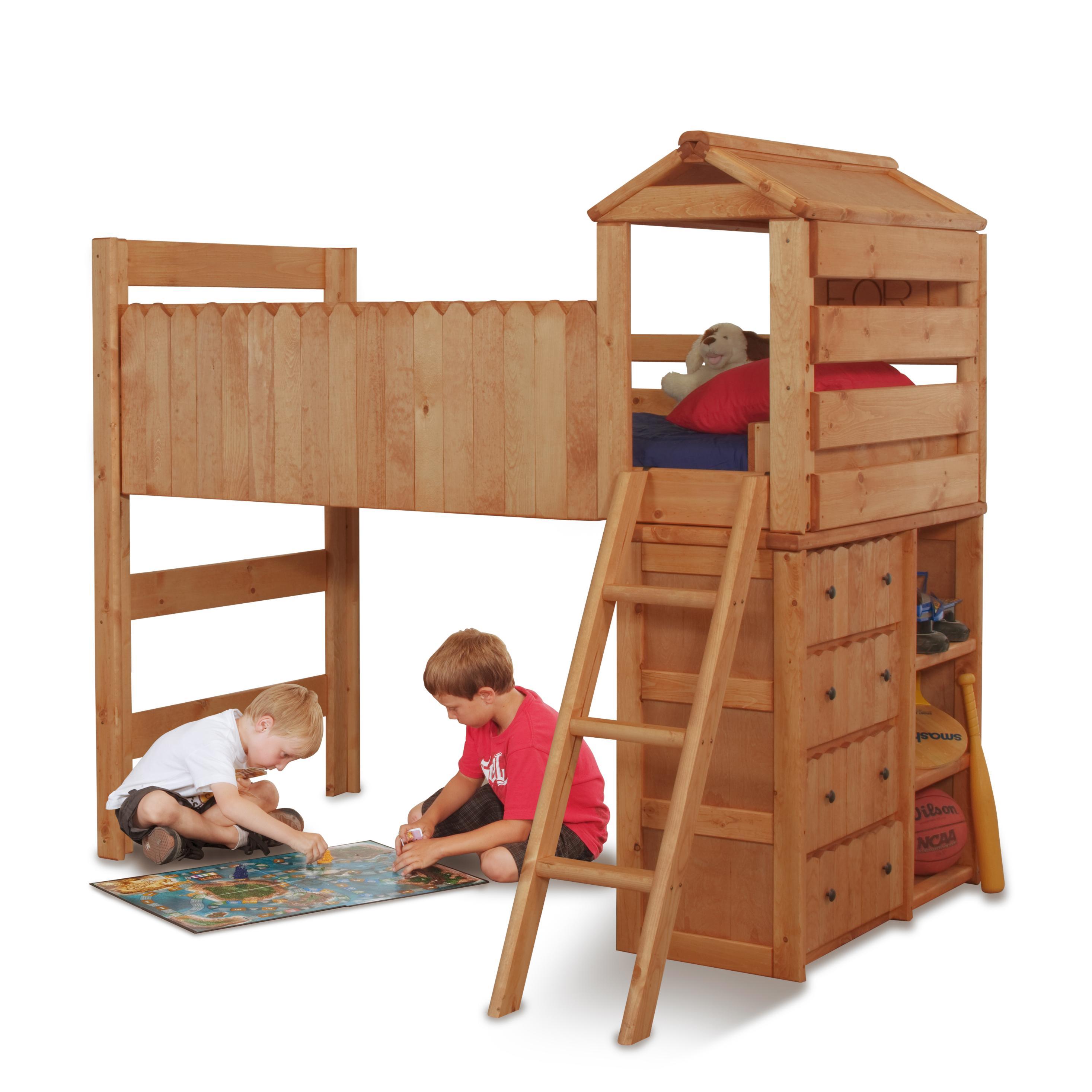 Bedroom Fort: Trendwood The Fort Twin Open Loft Fort Bed