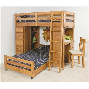 Trendwood Visions Twin/Twin Visions Bronco Loft Bed