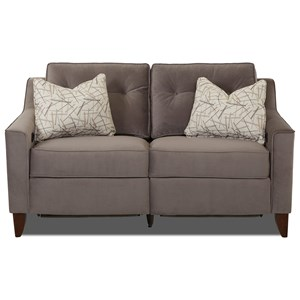 Trisha Yearwood Home Collection by Klaussner Audrina Power Reclining Loveseat