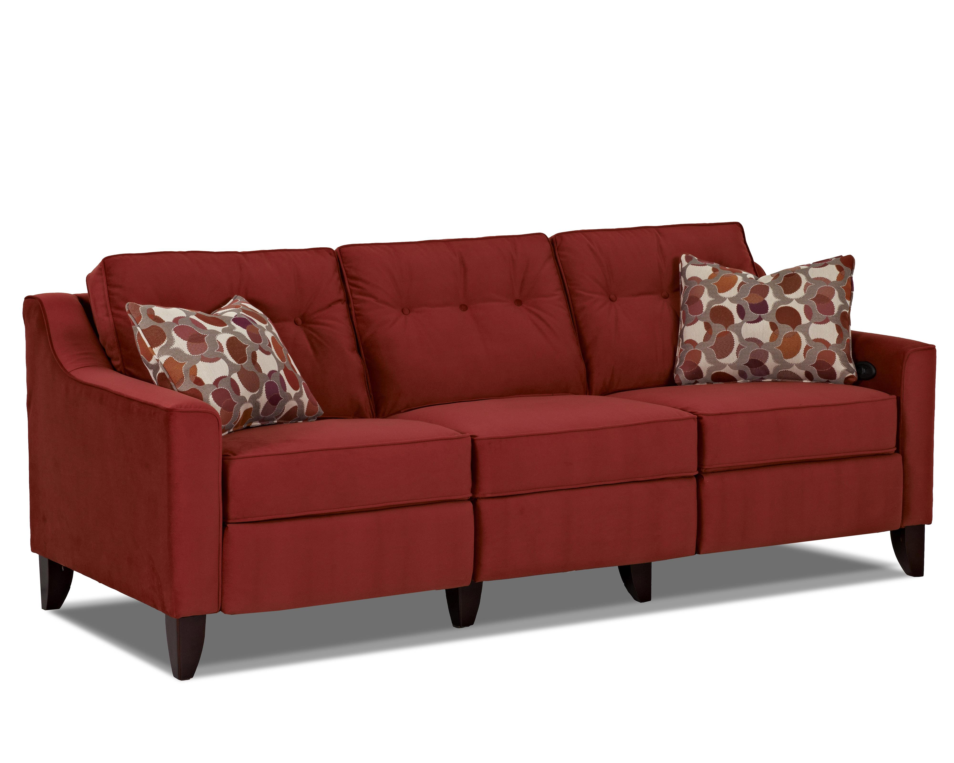 Trisha Yearwood Home Collection by Klaussner Audrina Power Reclining Sofa - Item Number: 31603 PWRS-OakleyTomato