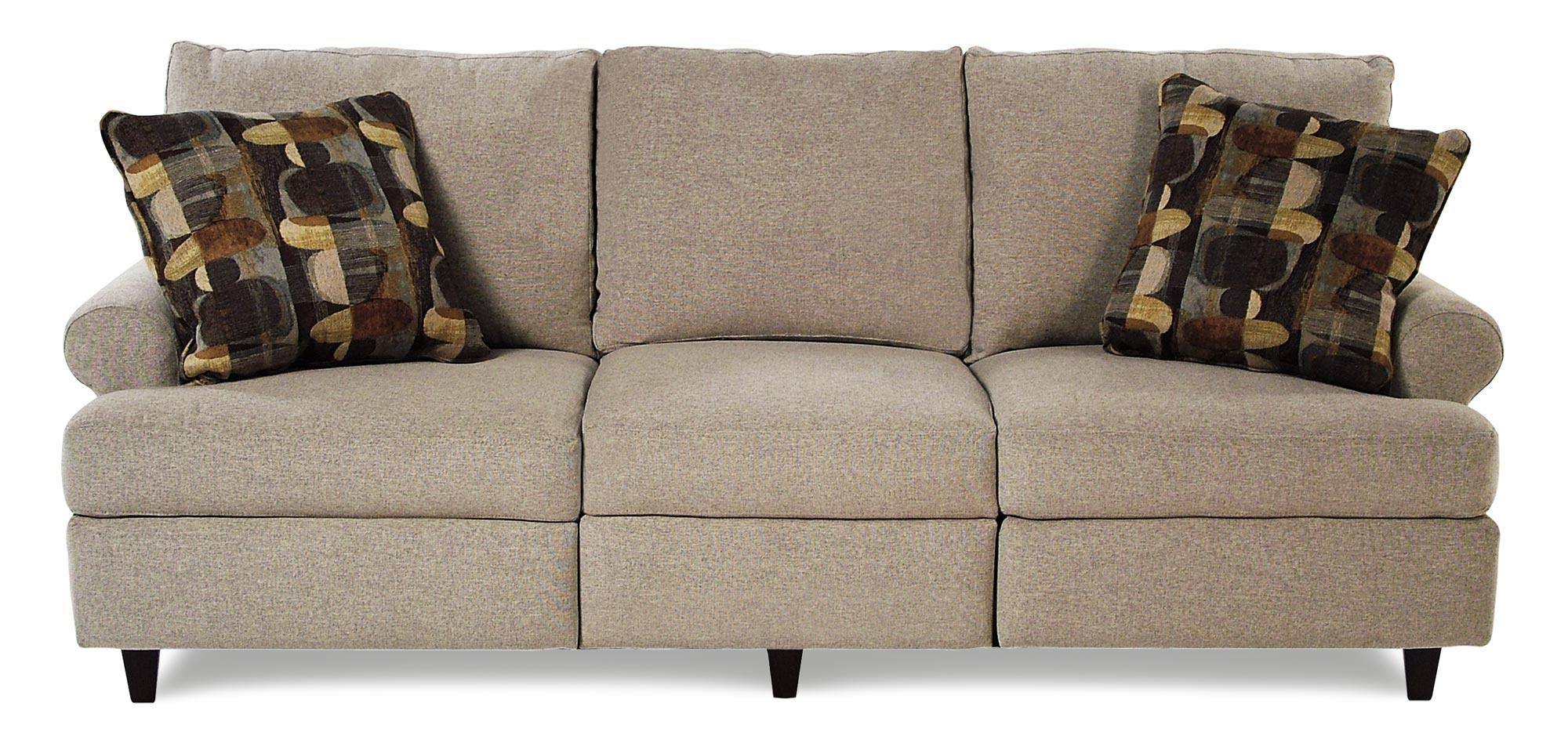 Trisha Yearwood Home Collection by Klaussner Birchwood Reclining Sofa - Item Number: 26403-PWRS-GB