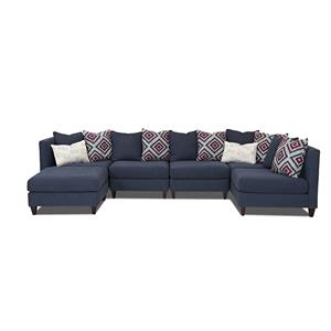 Trisha Yearwood Home Collection by Klaussner Brooks Sectional Sofa