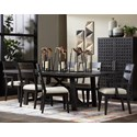 Trisha Yearwood Home Collection by Klaussner City Limits 7-Piece Outdoor Dining Set - Item Number: 742-082 DRT+4X900 DRC+2X905 DRC